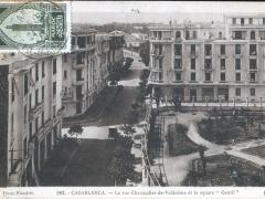 Casablanca La rue Chevandler de Valdrome et le square Gentil