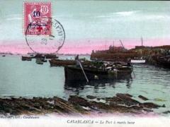 Casablanca Le Port a maree basse