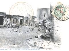 Casablanca Mitrailleuses Prises aux Marocains