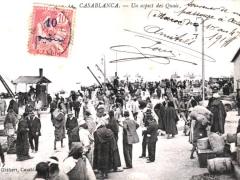 Casablanca Un aspect des Quais