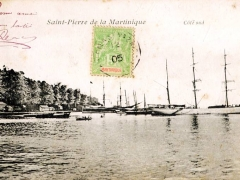 Saint Pierre de la Martinique Cote sud
