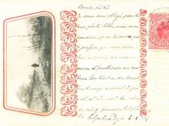 Prägekarte mit aufgeklebtem Bild