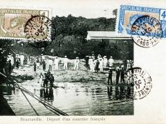 Brazzaville Depart d'un Courrier francais