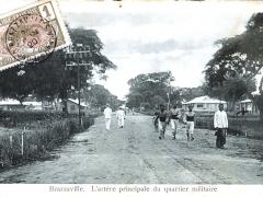 Brazzaville L'artere principale du quartier militaire