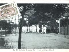 Brazzaville le 14 Juillet Le cortege officiel