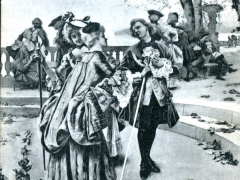 Casino de Monte Carlo Sur la Terrasse sous Louis XV par P Ribera