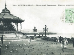 Kiosque et Terrasses Pigeons apprivoises