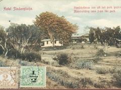Hotel Sindanglaija Mainbuilding seen from the park