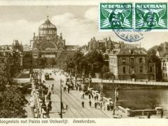 Amsterdam Hoogesluis met Paleis van Volksvlijt