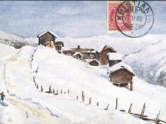 Künstlerkarte Schneelandschaft
