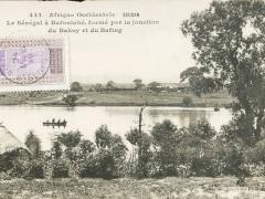 Le Senegal a Bafouble forme pa la jontion du Bakoy et du Bafing