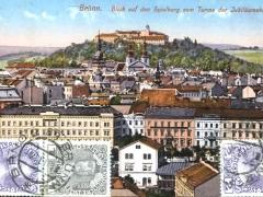 Brünn Blick auf den Spielberg vom Turme der Jubiläumskirche
