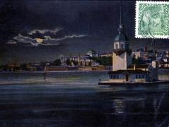 Constantinople La Tour de Leandre au clair de lune
