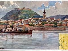 Hainburg von der Donau aus Erste K K priv Donaudampfschiffahrtsgesellschaft