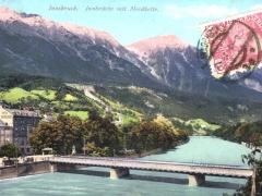 Innsbruck Innbrücke mit Nordkette