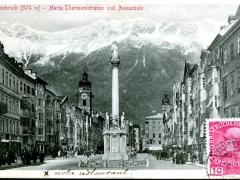 Innsbruck Maria Theresienstrasse und Annasäule