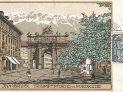Innsbruck Triumphpforte mit Nordkette