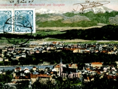 Innsbruck gegen den Patscherkofel und Glungezer