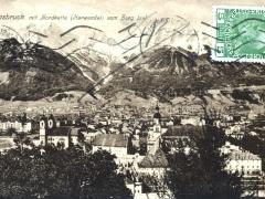 Innsbruck mit Nordkette Karwendel vom Berg Isel