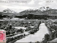 Innsbruck von der Weiherburg mit Series u Nockspitze