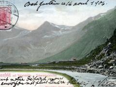 Nassfeld mit Valeriehütte un Schareckgletscher