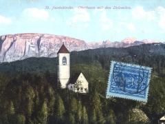 Oberbozen mit den Dolomiten St Jacobskirche