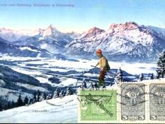 Panorama vom Gaisberg Watzmann und Untersberg