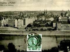 Pozdrav z Prahyl Stare mesto sadü Rudolfovych
