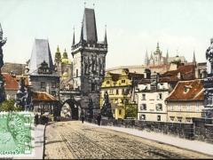 Prag Karlsbrücke mit Kleinseitner Brückenturm