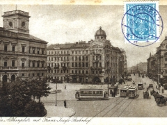 Wien Althanplatz mit Franz Josefs Bahnhof