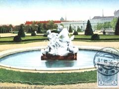 Wien Brunnengruppe bei den k k Museen