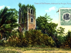 Tower of Old Panama destroyed by Morgan
