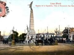 Lima Esquina de la Exposicion Vista al Monumento San Martin