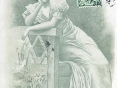 Frau Künstlerkarte