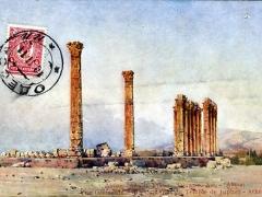 Vue Occidentale des Colonnes du Temple de Jupiter Athenes
