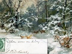 Wald Rehe Künstlerkarte
