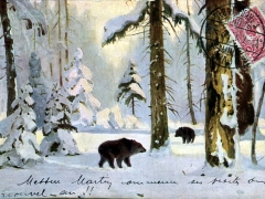 Winterwald Künstlerkarte