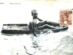 Native diving boy