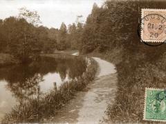 Flussufer Fotokarte