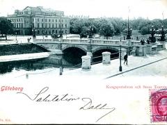 Göteborg Kungsportsbron och Stora Teatern