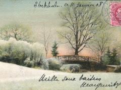 Landschaft Brücke Künstlerkarte