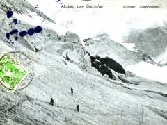Abstieg zum Gletscher Eismeer Jungfraubahn