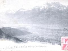 Aigle et Dent du Midi vus de Corbeyrier