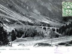 Albula Bahn Kehrungen unterhalb Preda