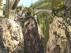 Albulabahn alte und neue Solisbrücke