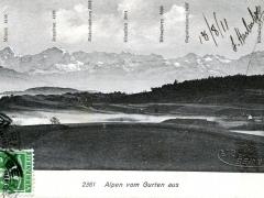 Alpen vom Gurten aus
