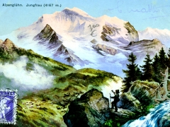 Alpenglühn  Jungfrau