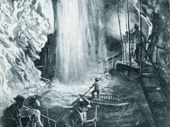 Cascade de la Grotte aux Fees a St Maurice