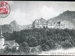 Caux L'eglise catholique le Grand Hotel