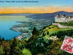 Caux Palace Hotel et vue sur Montreux Clarens